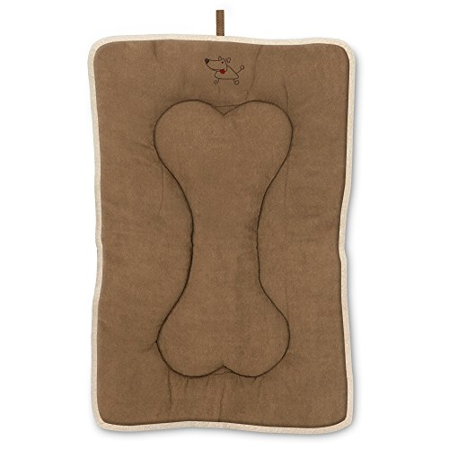 Best Pet Supplies Heavy Duty Pet Crate Mat - Light Brown Suede, Double Sided & Machine Washable, XL (42 x 28 x 2 inches)