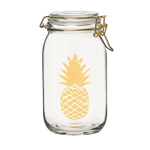 Amici Home, A7CA917R, Luxe Collection Pineapple Glass Hermetic Preserving Storage