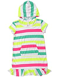 15ec2c9bca Girls' Cover-ups Swimsuit Beach Dress Top, Short Sleeves Hooded Swimming  Towel Cover