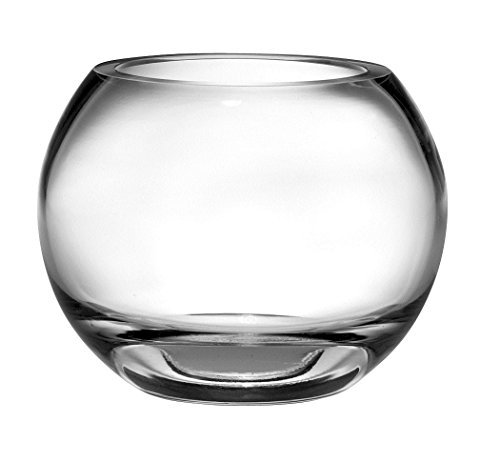 Barski Handmade Glass Thick Rose Bowl , Clear, 9