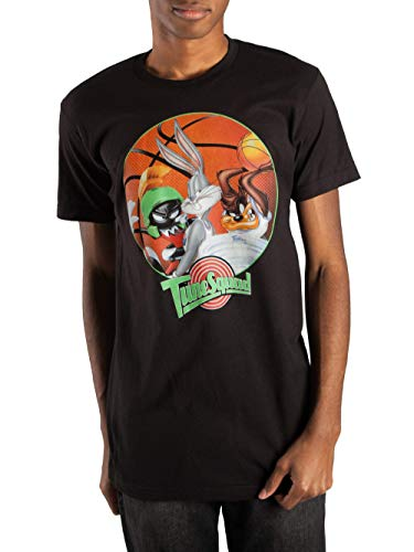 Space Jam Bugs Bunny Tasmanian Devil Marvin The Martian Men's T-Shirt (Large (42/44)) -
