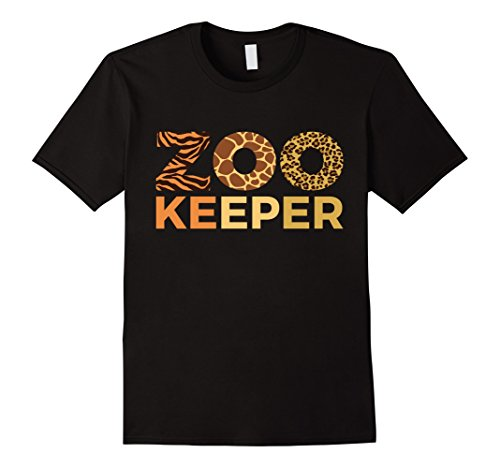 Mens Zoo Keeper Shirt Gift Animal Lover T Shirts Cute Cat Design XL (Zoo Keeper Costume Men)