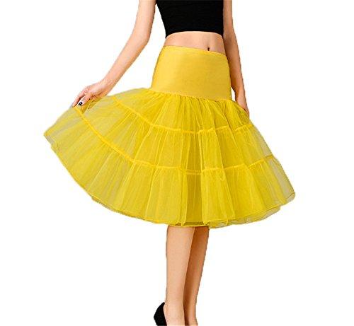 CoutureBridal - Enaguas cortas - para mujer amarillo