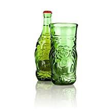 Recycled Glass LUCKY BUDDHA Beer Bottle Glass - Single (1 Glass Boxed)