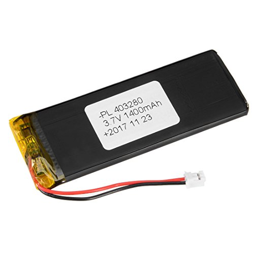 uxcell Power Supply DC 3.7V 1400mAh 403280 Li-ion Rechargeable Lithium Polymer Li-Po Battery
