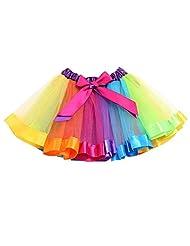 Shineweb Baby Girl Layered Rainbow Tutu Skirts Pettiskirt Ballet Dress
