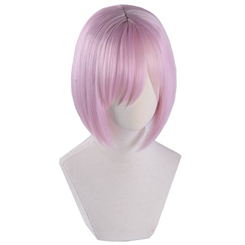 magic acgn Mash Bob Straight Game Hair Short pink Party For Women Cosplay Costume Christmas Halloween Wig   ()