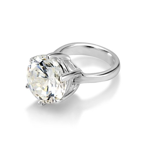 925 Sterling Silver White Cz Engagement Ring Bead Charm
