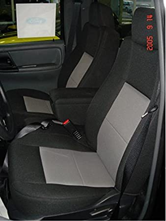 Durafit Seat Covers Made to fit 2004-2005 Ford Ranger Pickup 60//40 Split Bench Seat Custom Seat Covers,with Opening Console Black//Gray Automotive Twill