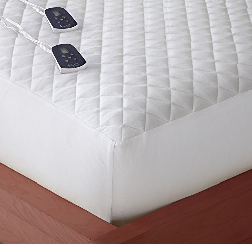 Thermee Micro Flannel Electric Mattress Pad, King, White