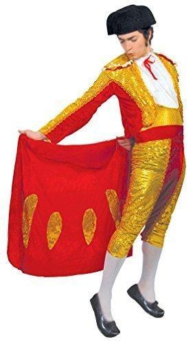 Mens Red Gold Sequinned Matador Spanish Bull