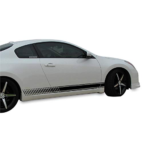 Bubbles Designs 2X Decal Sticker Vinyl Side Racing Stripes Compatible with Nissan Altima Coupe 2008-2013