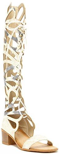 Modern Rebel Vicenza Womens Fashion Lace-Up Snake Print Gladiator 2