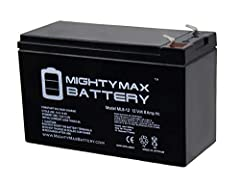 Delivering power when you need it, the Mighty Max ML8-12 12 Volt 8 AH uses a state of the art, heavy-duty, calcium-alloy grid that provides exceptional performance and service life in both float and cyclic applications.The ML8-12 is an Absorb...