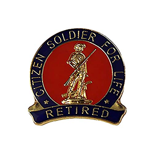 Citizen Soldier for Life Retired US Army National Guard Lapel Hat Pin