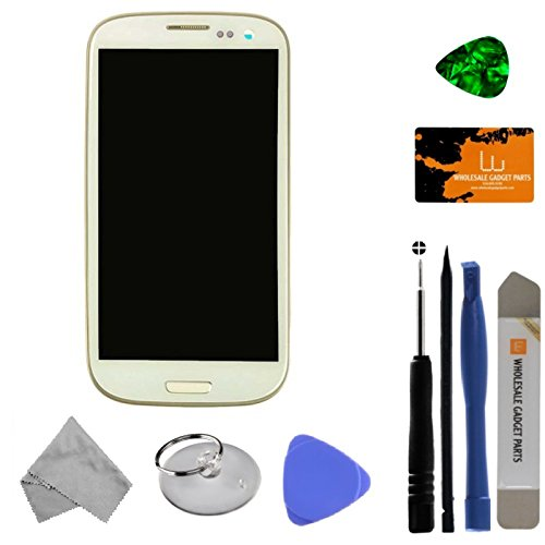 LCD, Digitizer & Frame Assembly for Samsung Galaxy S III (AT&T & T-Mobile GSM) (White) (Aftermarket - Without Samsung Logo) with Tool Kit