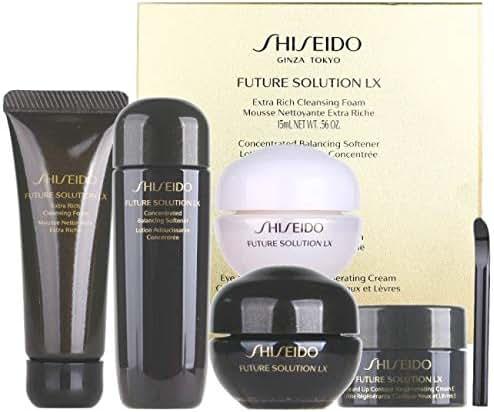 Shiseido FUTURE SOLUTION LX Foam+Softener+day cream+night cream 4pcs Set by Shiseido