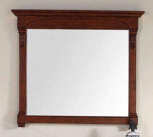 (James Martin Vanities Mirror in Warm Cherry)