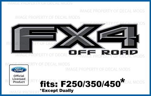 matte black 2009-2014 Ford FX4 Off Road Decal Sticker Set blackout flat
