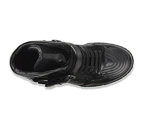 Diesel femme black gold hi top hIgh sneaker chaussures bottes cuir