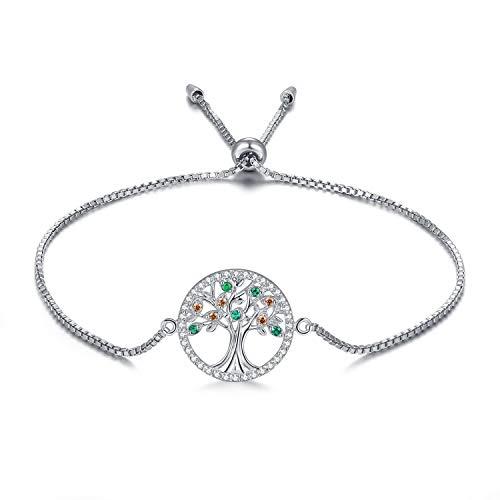 MEGA CREATIVE JEWELRY Pulseras Árbol de la Vida para Mujer Plata 925 con Cristales a buen precio