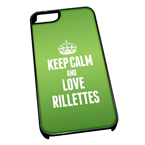 Nero cover per iPhone 5/5S 1457 verde Keep Calm and Love Rillettes