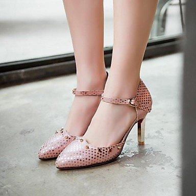 Mujeres cirior Pumps Heels Punta párrafos Stiletto Rosa High Mujer sintética Piel Dedos tacón qqOYUxr