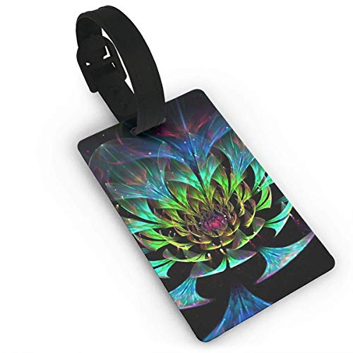 Travel Luggage ID Tags Fantasy Lotus Flowers Pattern Suitcase Label Carry On Cards Business Card Holder