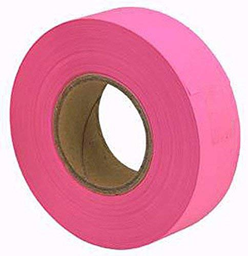 (Merco M219 Glow Pink Flagging Tape - 1-3/16in x 150ft - 72 Rolls)