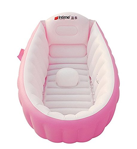 Inflatable Baby Bathtub, Kid Infant Toddler Infant Newborn Inflatable Foldable Shower Pool (pink) xin-aly-1
