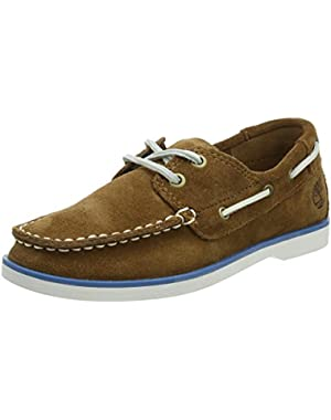 Seabury Classic Medium Brown Suede Youth Boat Shoes