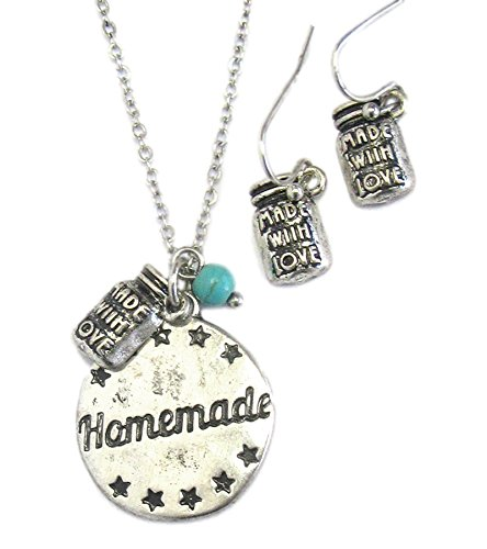 Lovely Southern Country 'Homemade' Necklace and Earrings Set (Homemade Country Costumes)