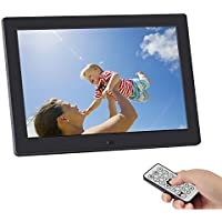 Digital Picture Frame,SSA 8 inch 1280x800 High Resolution Full IPS Photo/Music/Video Player Calendar Alarm Auto On/Off Timer, Ultra Slim Design with Remote Control