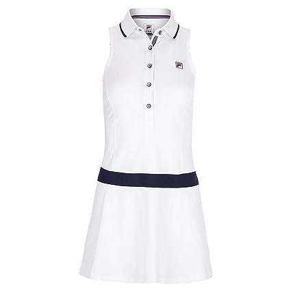 : Fila Heritage Polo Dress WhiteNavy Large