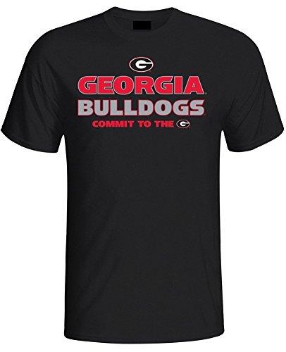 Elite Fan Shop Georgia Bulldogs Mens T Shirt Black - 2XL