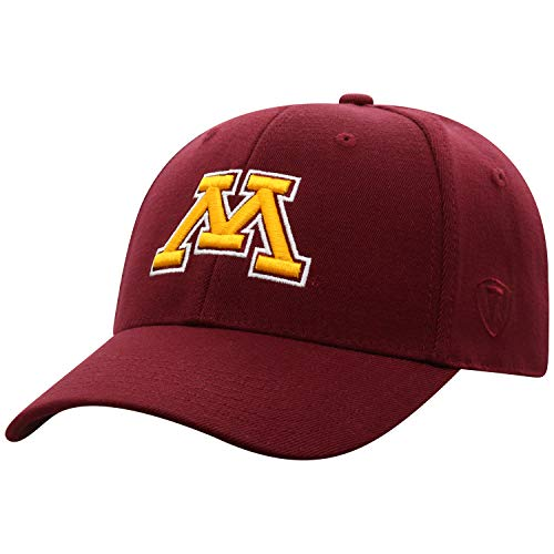 Top of the World Minnesota Golden Gophers Men's Memory Fit Hat Icon, Maroon, One - Golden Wool Minnesota Gophers