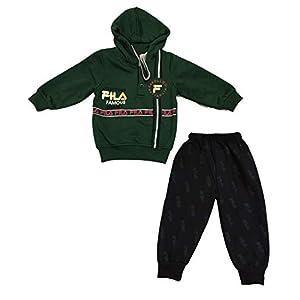Baby Boys and Baby Girls Sweatshirt Hoodie Tshirt and Pyjama Set for 2-3 Years (Dark Green)