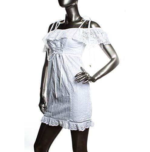 Guess Ysabel Bianco Donna W92k88 Wbk90 Vestito PqPrw6