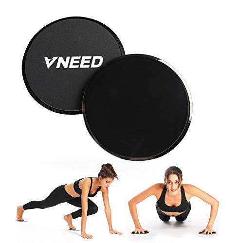 【2021 Update】 Core Exercise Sliders (Set of 2), Smooth Gliders Dual-Sided Design, Use on Hardwood Floors, Workout…