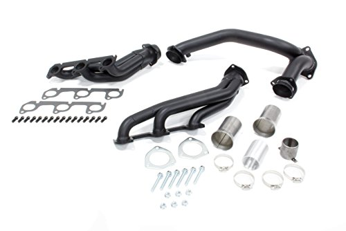 Hedman Hedders 68473 Shorty Standard Header, Black (Hedman Headers Shorty)