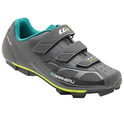 Louis Garneau Women's Multi Air Flex Bike Shoes for Indoor Cycling, Commuting and MTB, SPD Cleats Compatible with MTB Pedals, Asphalt, US (10), EU (41)
