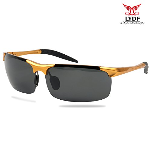 LYDF Fashion UV Protection Sunglasses for Men Polarized Sports Metal Superlight - Sunglasses Best Mens Value