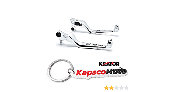 Krator Black Skull Motorcycle Hand Levers Front Controls Compatible with 1996-2015 Harley Davidson FXDWG Dyna Wide Glide