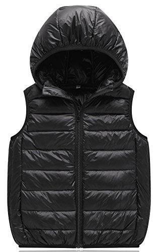 East Sky Kids Winter Lichtgewicht Down Vest Hoodies Warm Outdoor Winter Packable Eend Vest voor jongens en meisjes
