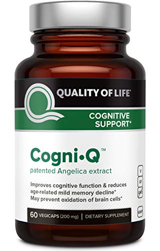 Premium Brain Support Supplement - Supports Memory, Focus, Brain, Clarity & Positive Mood - Includes Angelica Gigas Nakai (INM-176) - 60 Vegetable Capsules