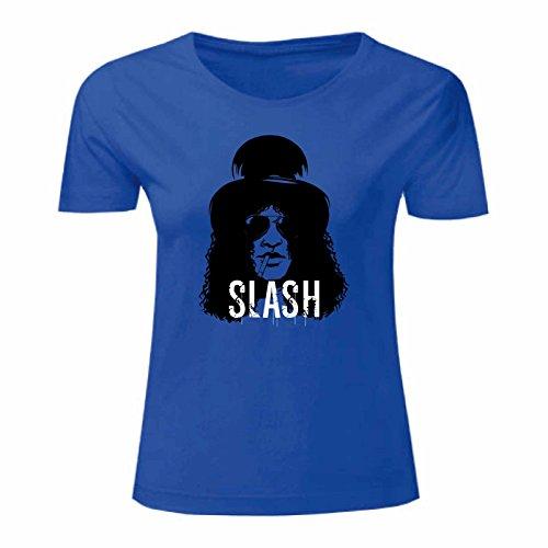 Slash T Donna Maglietta Art Blu shirt qtwZZdB