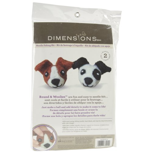 (Dimensions Needlecrafts Round and Wooly Dogs Needle Felting Kit)