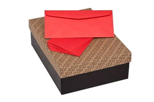 Limited Papers (TM) Envelopes, 10 Commercial Flap, Vellum Finish, 24lb / 60 text (89 gsm), 4-1/8'' x 9-1/2'' (Red, 500) by Limited Papers