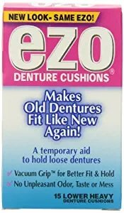 Ezo Denture Cushions Lower Heavy, 15 Count Per Pack (11 Pack)