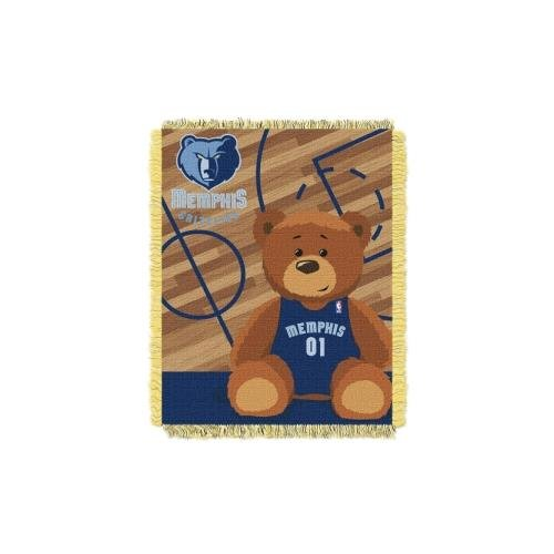 - The Northwest Company Officially Licensed NBA Memphis Grizzlies Half Court Woven Jacquard Baby Throw Blanket, 36